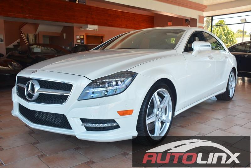 2014 MERCEDES CLS-Class CLS550 4dr Sedan 7 Speed Auto White Black Navigation Turbocharged Con