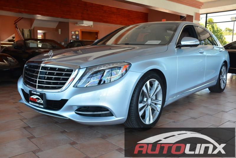 2016 MERCEDES S-Class S550 7-Speed Automatic Silver Brown Brown Leather Silver Bullet Navigat