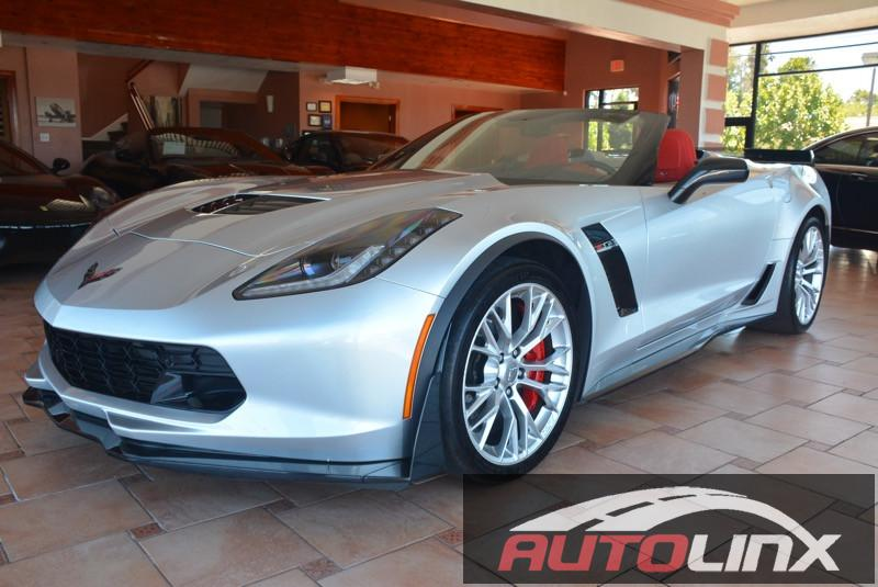 2016 Chevrolet Corvette 2LZ Z06 Convertible 7-Speed Manual Silver Red Bluetooth Hands-Free Po