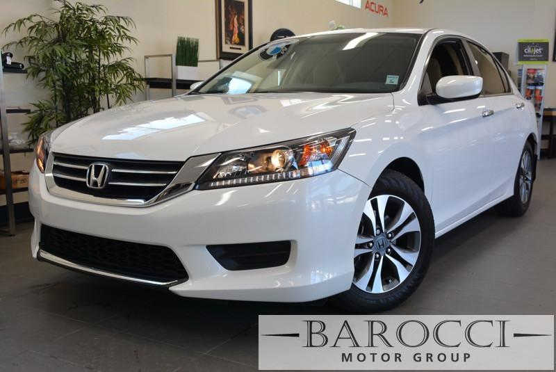 2013 Honda Accord LX 4dr Sedan CVT Automatic White Child Safety Door Locks Power Door Locks Ve