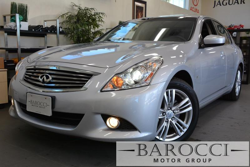 2015 Infiniti Q40 Navigation 4dr Sedan 7 Speed Auto Silver ABS Air Conditioning Alarm Alloy