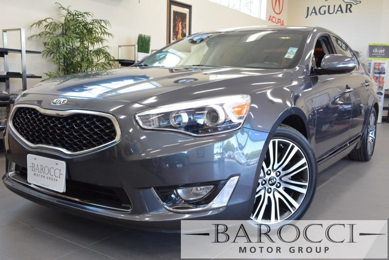 2014 Kia Cadenza Premium 4dr Sedan 6 Speed Auto Gray Black Beautiful Cadenza has many options