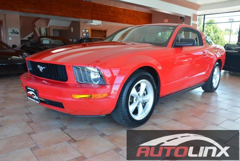 2008 Ford Mustang V6 Deluxe Coupe 5-Speed Automatic  Red Tan Autolinx Retail Show Room is locat