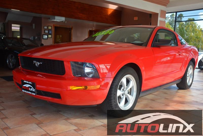 2008 Ford Mustang V6 Deluxe Coupe 5-Speed Automatic  Red Tan Completely inspected and reconditi