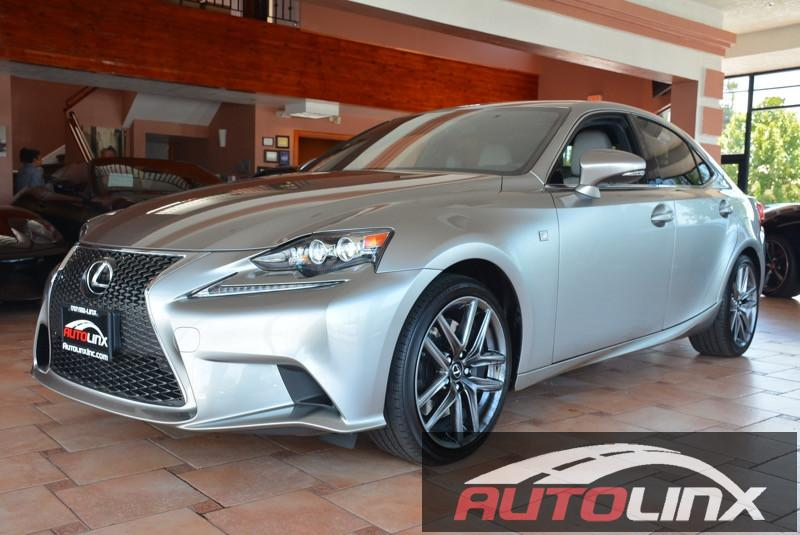 2015 Lexus IS 350 F Sport RWD 8-Speed Automatic Gray Black F-Sport Package and Black Nav The