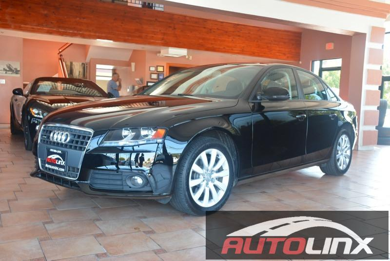 2012 Audi A4 20T Premium Sedan quattro Manual 6-Speed Manual Black Black Quattro and Black Lea