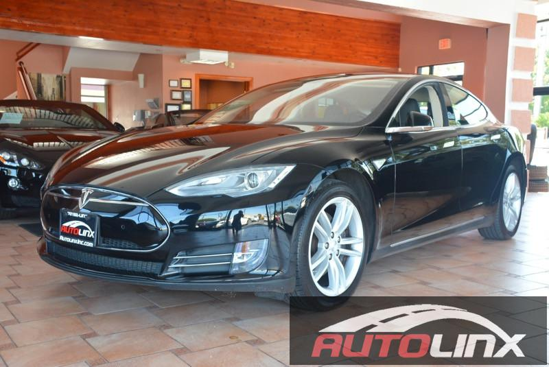 2014 Tesla Model S P 85KW 1-Speed Automatic Black Black Bluetooth Hands-Free Portable Audio C