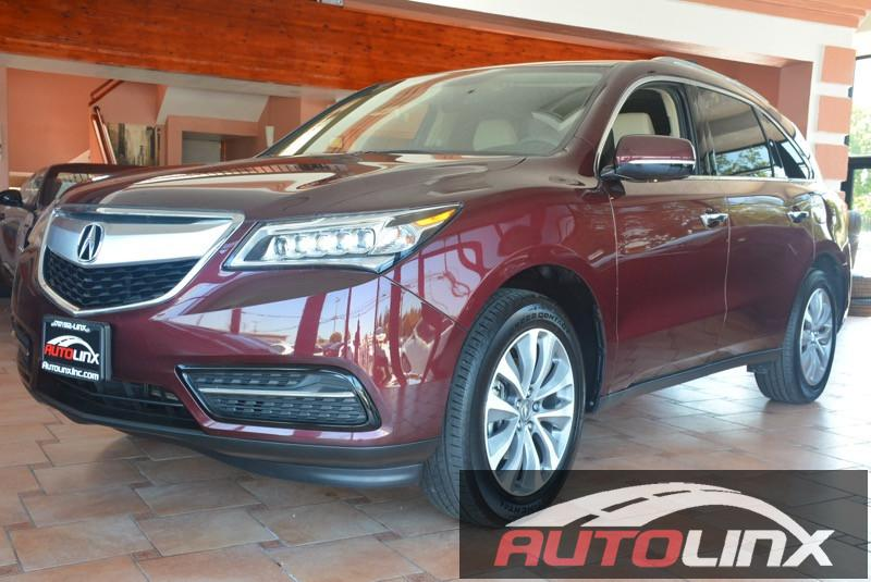2015 Acura MDX Tech Pkg AWD 4dr SUV wNavi Automatic Maroon Black TEC PKG Maroon Leather Hey