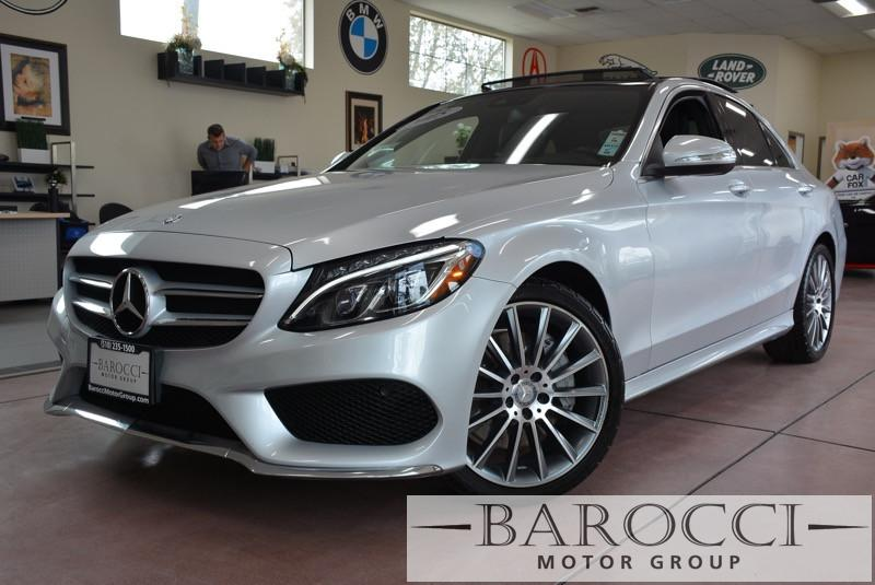 2015 MERCEDES C-Class C400 4MATIC AWD  4dr Sedan Automatic Silver Black Beautiful 1-owner C400