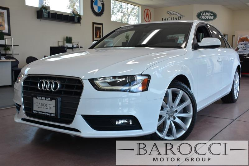 2013 Audi A4 20T Premium 4dr Sedan Automatic CVT White Brown Beautiful A4 with a unique color