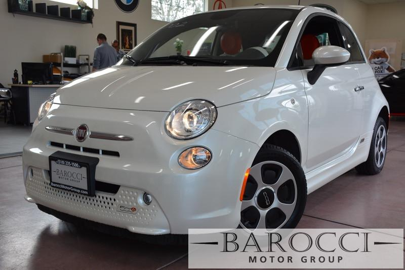 2013 FIAT 500e Base 2dr Hatchback 1 Speed Auto White Orange Gorgeous E500 Fiat with a one-of-a