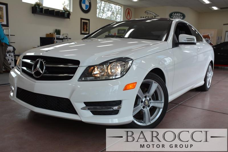 2014 MERCEDES C-Class C250 2dr CoupeSport Automatic White Black This beautiful One Owner car ge