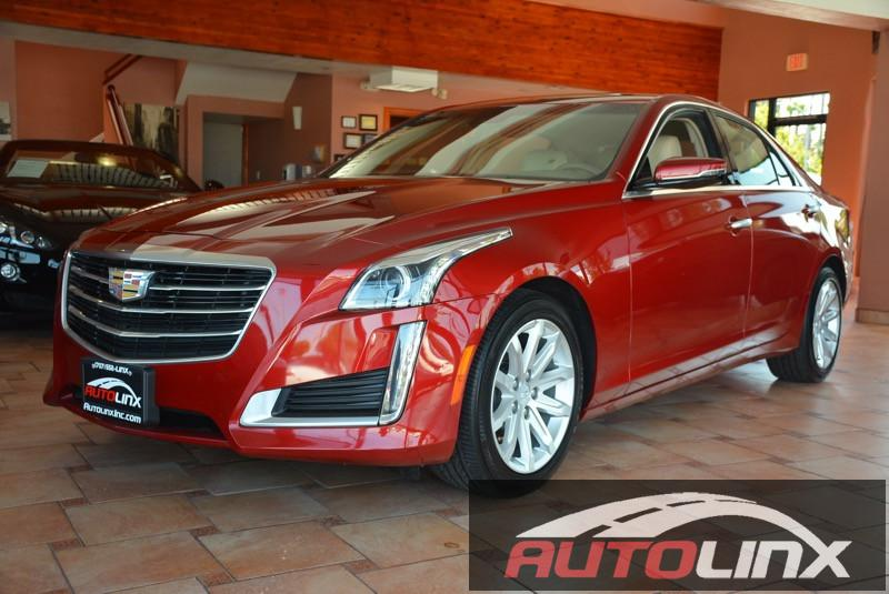 2015 Cadillac CTS 36L Luxury RWD 8-Speed Automatic Red Tan Child Safety Door Locks Power Door