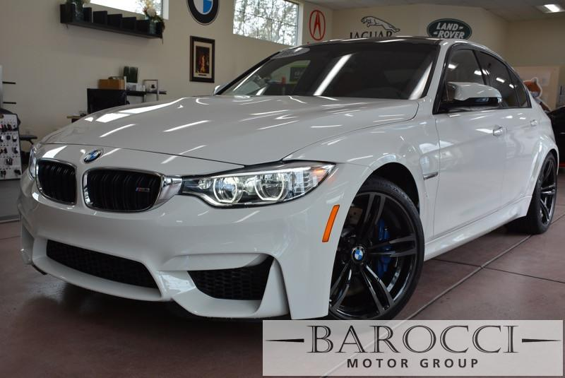 2016 BMW M3 Base M3 4dr Sedan SMG White Red Monster Speaks for itself with the competition pac