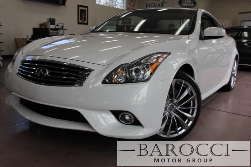 2013 Infiniti G37S Coupe SportNavigation 7 Speed Auto White Black This one is in excellent con