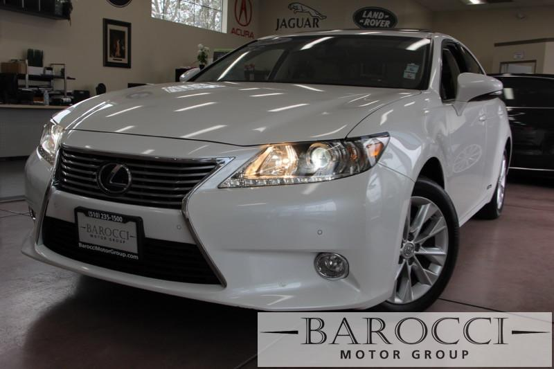 2013 Lexus ES 300h Base Hybrid 4dr Sedan Automatic CVT White Beige Beautiful ES300 Hybrid load