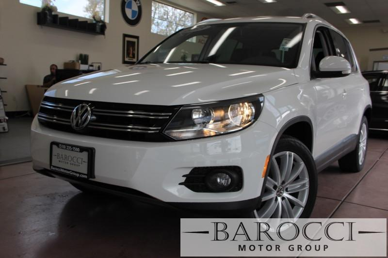 2013 Volkswagen Tiguan SE 4dr SUV 6 Speed Auto White Black 1-Owner lease return power-train Fa