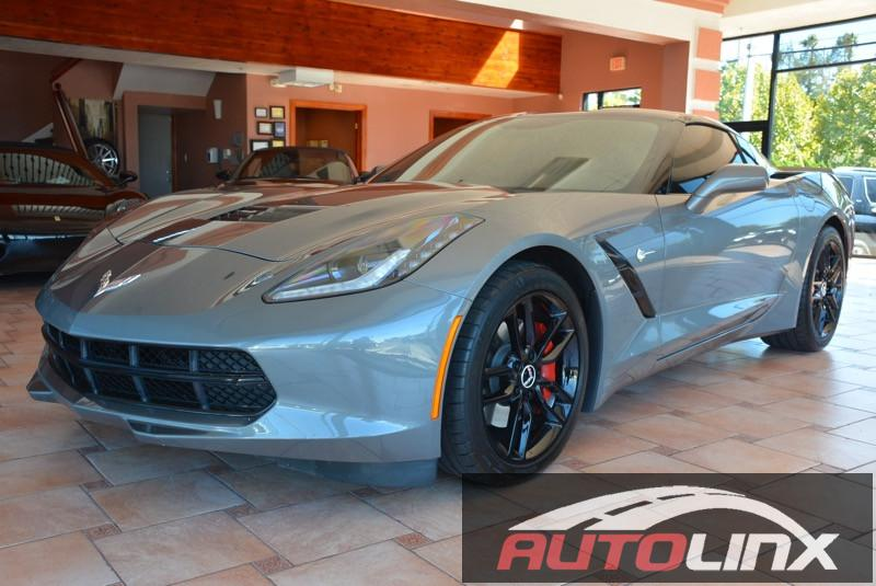 2015 Chevrolet Corvette 1LT Coupe Automatic 6-Speed Automatic Gray Black Bluetooth Hands-Free