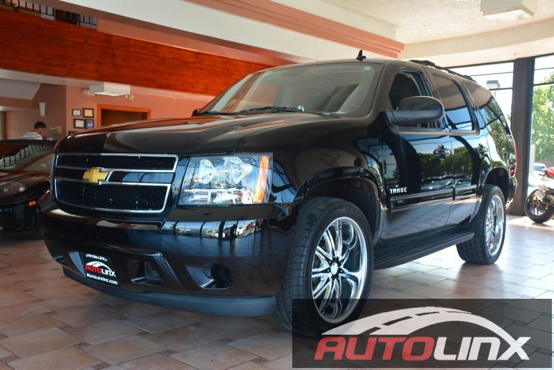 2014 Chevrolet Tahoe LS 3rd Row Seat 6-Speed Automatic Black Gray Bluetooth Hands-Free Backup