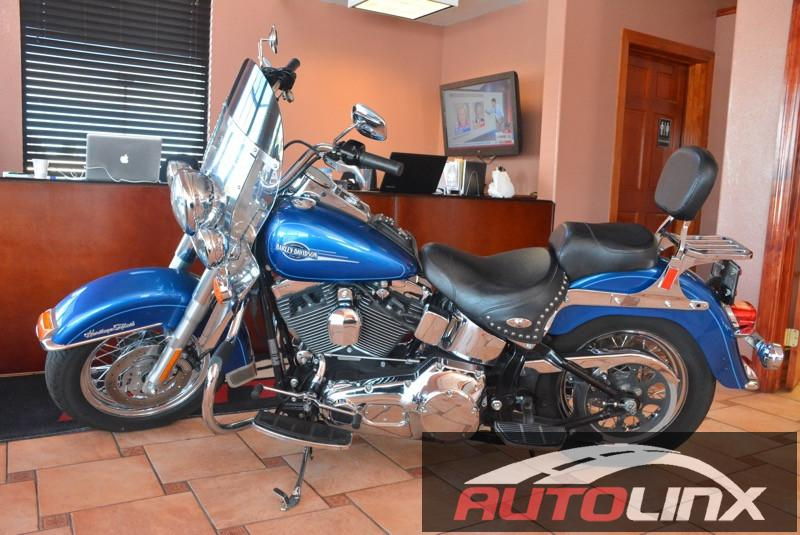 2005 Harley-Davidson FLSTC Heritage Softail Classic 5 Speed Manual Blue Black Best color There