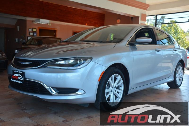 2015 Chrysler 200 Limited 9-Speed Automatic Gray Black Bluetooth Hands-Free Portable Audio Co