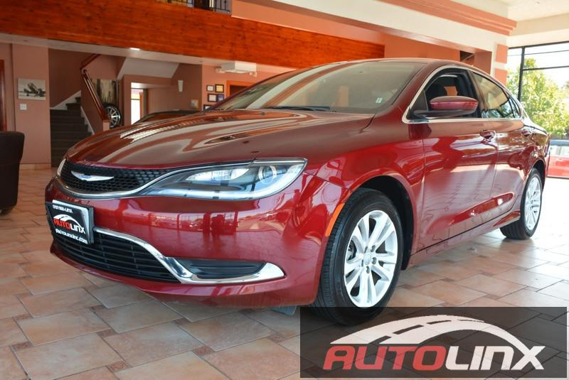 2015 Chrysler 200 Limited 9-Speed Automatic Red Black Bluetooth Hands-Free Portable Audio Con
