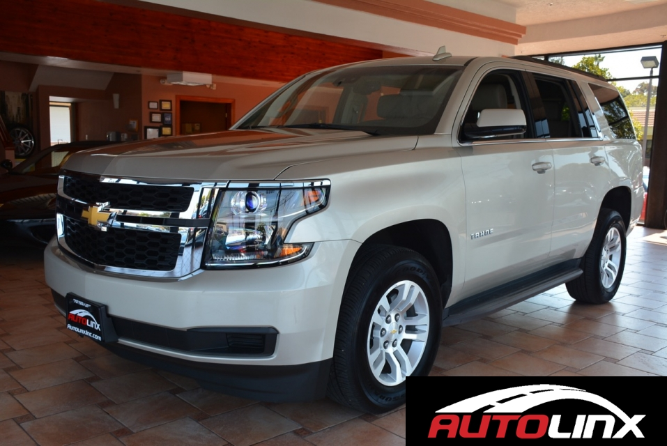 2015 Chevrolet Tahoe LT 4WD 6-Speed Automatic Champagne Black Bluetooth Hands-Free Backup Cam