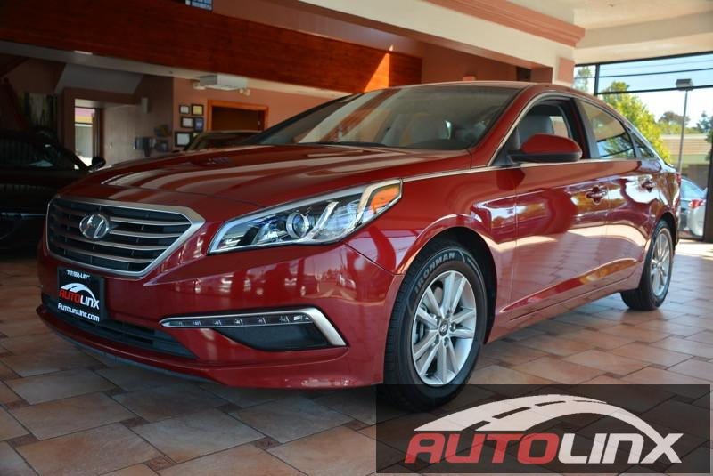 2015 Hyundai Sonata SE Automatic 6-Speed Red Black One Owner  Bluetooth Hands-Free Portable A
