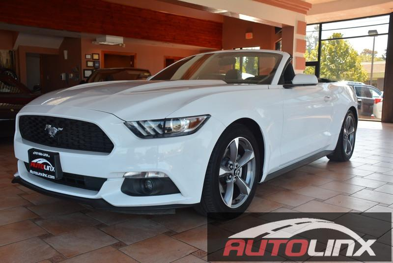 2015 Ford Mustang V6 6-Speed Automatic wOD White Black Accident free Carfax History One Owner