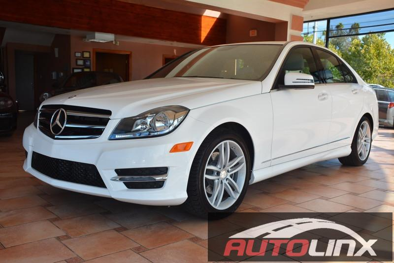 2014 MERCEDES C-Class C250 Sport Sedan 7-Speed Automatic White Gray Bluetooth Hands-Free Port