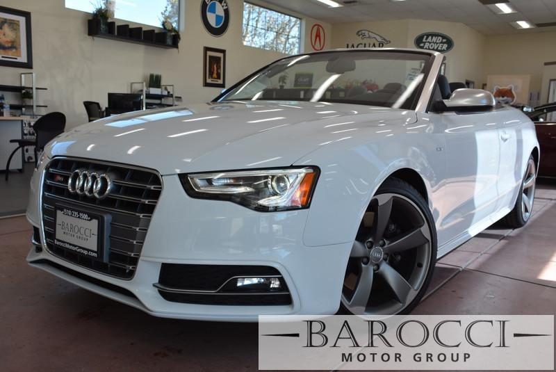 2015 Audi S5 30T quattro Premium Plu AWD Automatic White Black Beautiful S5 Convertible Gorge