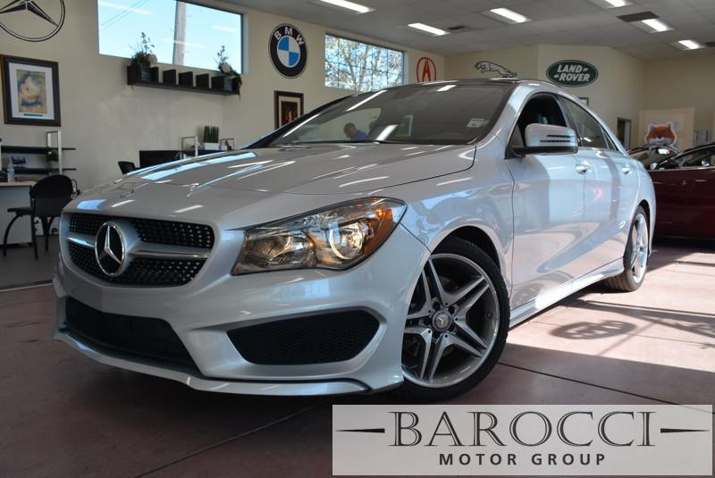 2014 MERCEDES CLA CLA250 AMG Pkg 4dr Sedan Automatic Silver Black This is a beautiful vehicle i