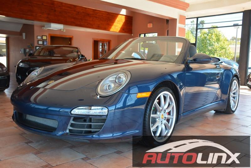 2011 Porsche 911 Carrera 4S Cabriolet Automatic Blue Gray Bluetooth Hands-Free Portable Audio