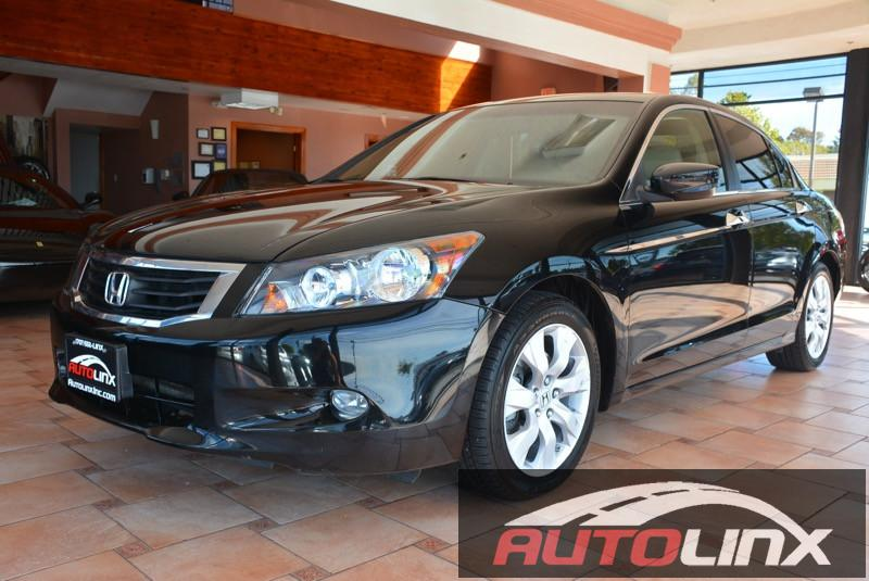 2010 Honda Accord EX-L V6 4dr Sedan Automatic Black Tan ABS Air Conditioning Alarm Alloy Whe