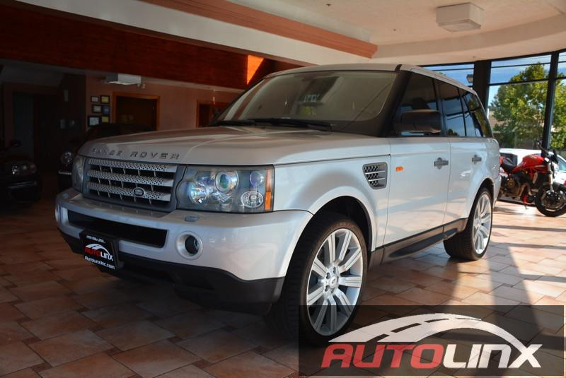 2006 Land Rover Range Rover Sport HSE 4dr SUV 4WD 6-Speed Automatic Silver Tan Child Safety Doo
