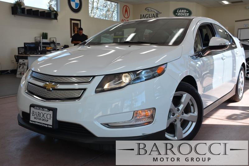 2014 Chevrolet Volt Base 4dr Hatchback 1 Speed Auto White Carpool Lane Stickers XM Radio ABS