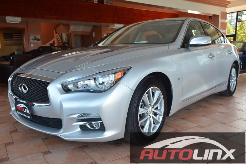 2015 Infiniti Q50 S Premium 7-Speed Automatic Silver Bluetooth Hands-Free Portable Audio Conne