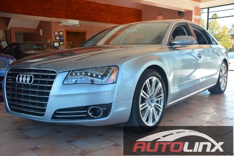 2013 Audi A8 30T quattro LWB AWD 4dr 8 Speed Auto Silver Gray Bluetooth Hands-Free Portable