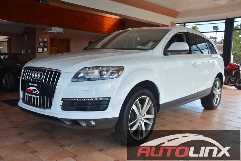 2013 Audi Q7 30T Premium Plus quattro 8-Speed Automatic White Black Bluetooth Hands-Free Por