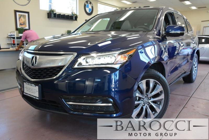 2014 Acura MDX Tech Pkg 4dr SUV 6 Speed Auto Blue Off White Great MDX with all the options incl