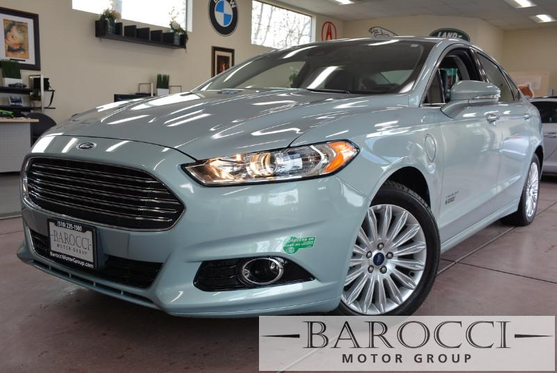 2013 Ford Fusion Energi Titanium 4dr Sedan Automatic Blue Black Beautiful Fusion Titanium has
