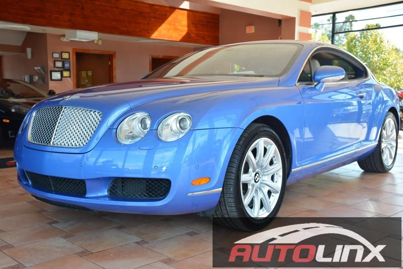 2005 Bentley Continental GT Coupe 6-Speed Automatic Blue Beige Blue Leather All Wheel Drive N