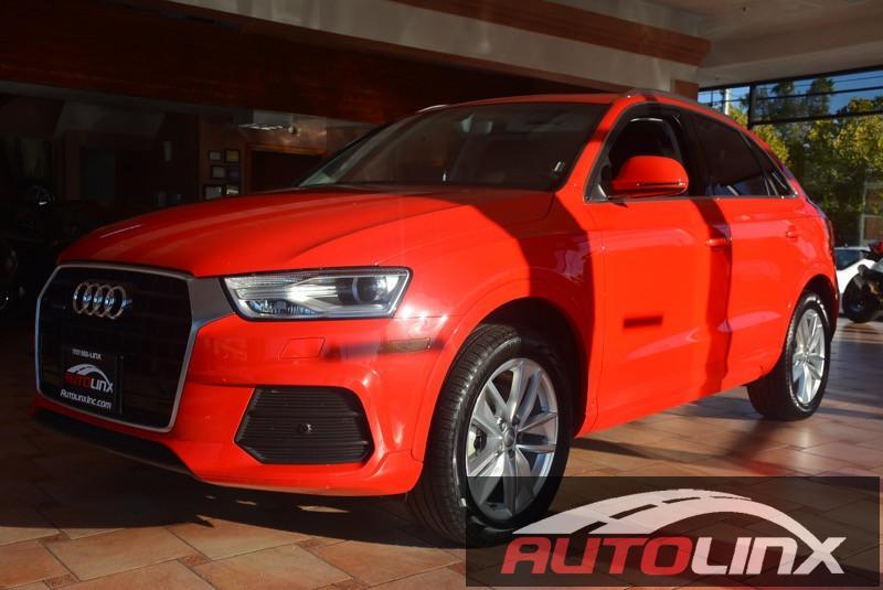 2016 Audi Q3 20T quattro Premium Plus 6-Speed Automatic Red Black Bluetooth Hands-Free Porta