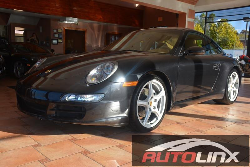 2005 Porsche 911 Carrera 6 Speed Manual Black Tan Autolinxs Retail Show Room is located on Sono