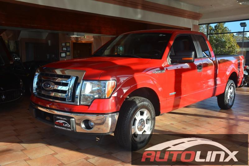 2012 Ford F150-Super-Cab XLT Pickup 4D 6 12 ft Automatic 6-Spd White Gray Dont let the miles