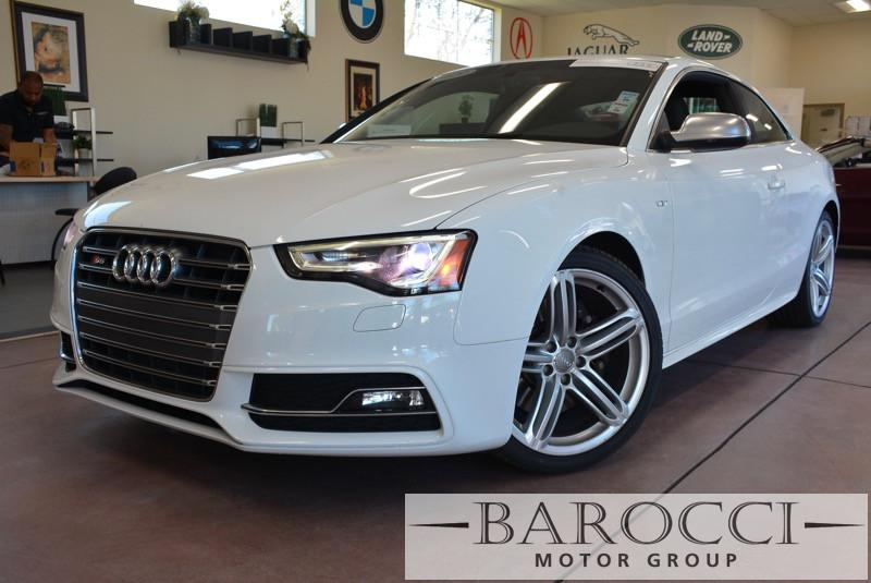 2013 Audi S5 30T quattro Premium AWD  2dr Coupe 7 Speed Auto White Black Beautiful White S5 L
