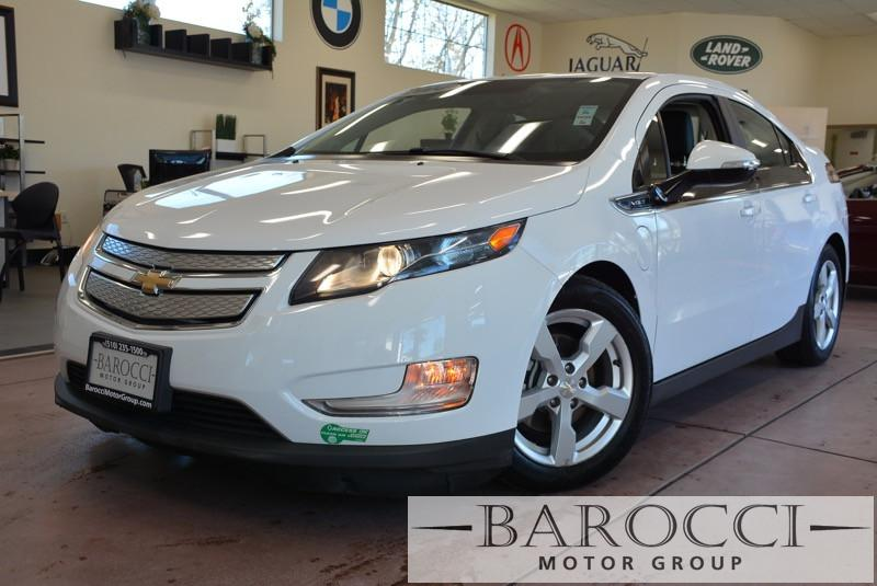 2014 Chevrolet Volt Premium 4dr Hatchback 1 Speed Auto White Black Loaded with options includin