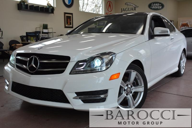 2014 MERCEDES C-Class C250 2dr Coupe 7 Speed Auto White White This beautiful One Owner car gets