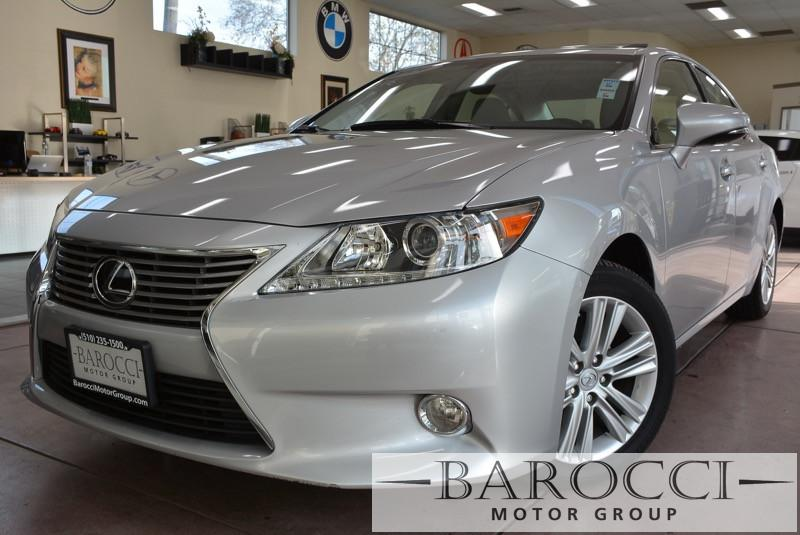 2014 Lexus ES 350 Base 4dr Sedan 6 Speed Auto Silver Gray Navigation Moon roof leather heate