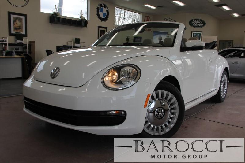 2013 Volkswagen Beetle 25L PZEV 2dr Convertible 6A 6 Speed Auto White Champagne ABS Air Condi